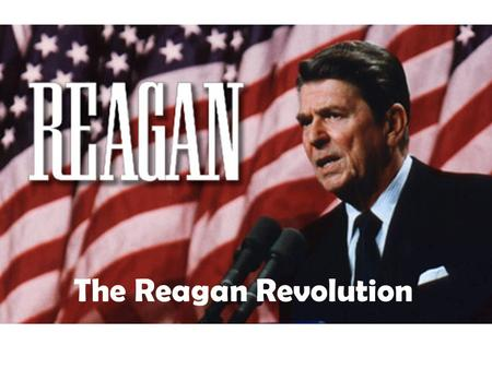The Reagan Revolution. Background on Ronald Reagan Ronald Reagan was an actor who worked for various studios in Hollywood. In 1947, Reagan was elected.