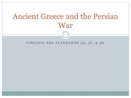 Ancient Greece and the Persian War