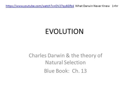 Theory Of Evolution Darwin Theory Of Evolution Youtube