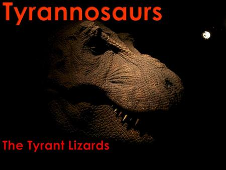 When people hear the word tyrannosaur, they think of the Tyrannosaurus rex. But, there were many other kinds. Who and what were they? The tyrannosaurs…