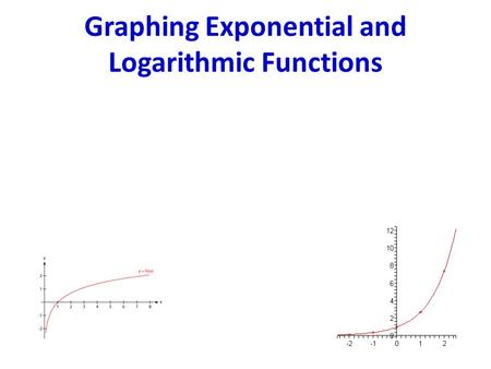 Graphing Exponential and Logarithmic Functions. Objective I can graph exponential functions using a graphing utility and identify asymptotes, intercepts,