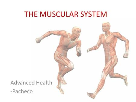 THE MUSCULAR SYSTEM Advanced Health -Pacheco. Voluntary Movement Involuntary Movement.