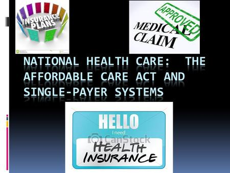 "The Affordable Care Act  AKA, ""Obamacare""  Goals:  Increase the quality affordability of health insurance  Decrease the number of uninsured people."