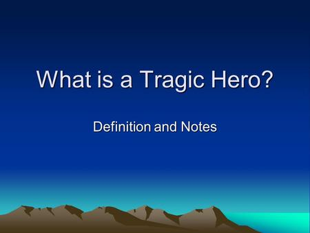 an introduction to the definition of a tragedy by aristotle