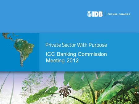 ICC Banking Commission Meeting 2012. Leading regional development bank  Largest source of multilateral financing for Latin America and the Caribbean.