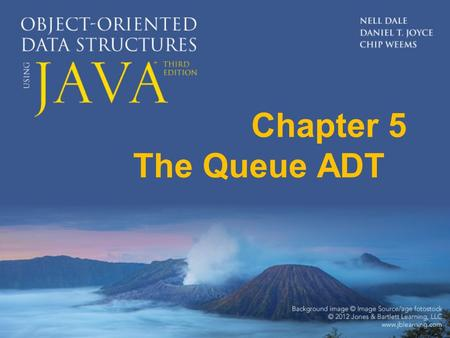 "Chapter 5 The Queue ADT. 5.1 Queues Queue A structure in which elements are added to the rear and removed from the front; a ""first in, first out"" (FIFO)"