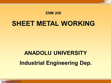 Industrial Engineering Dep.