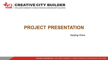 PROJECT PRESENTATION Nanjing- China. Nanjing Project covers an area of 87,600 square meters, with a total construction area of 233,900 square meters,