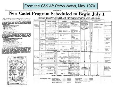 From the Civil Air Patrol News, May 1970. Note the new AE test for the Mitchell.