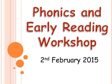 Phonics and Early Reading Workshop