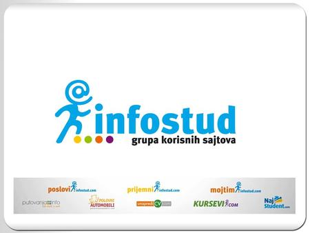 Infostud – Group of Usefull Websites Infostud is company that operates through the Internet and runs its own Internet sites in the area of ​​services,