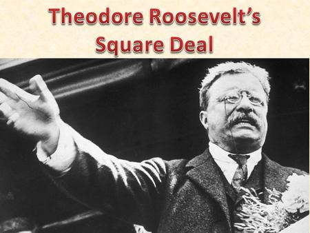 Theodore Roosevelt's Square Deal Square Deal embraced the three C's: – control of the corporations – consumer protection – conservation of natural resources.