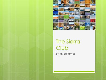 The Sierra Club By javan james. What are their aims?  To explore, enjoy, and protect the wild places of the earth;  To practice and promote the responsible.
