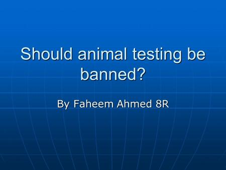 Tag: pro animal testing