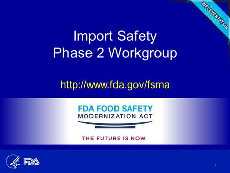 Import Safety Phase 2 Workgroup  1.