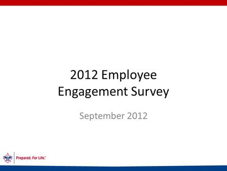 2012 Employee Engagement Survey September 2012. What is Employee Engagement? Employee engagement is about: Motivated employees Employees who are passionate.