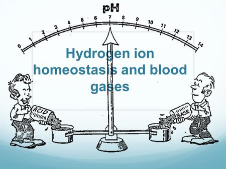 Hydrogen ion homeostasis and blood gases