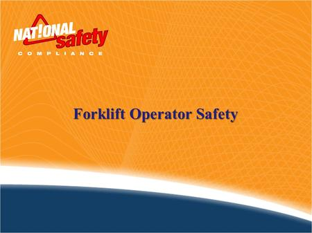 Forklift Operator Safety. NIOSH calculates that approximately 100 deaths and 20,000 injuries occur annually in the U.S. due to forklifts. The costs incurred.
