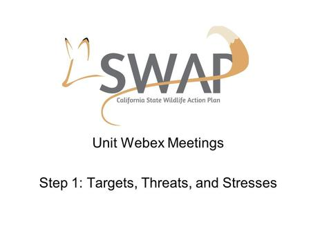 Unit Webex Meetings Step 1: Targets, Threats, and Stresses.