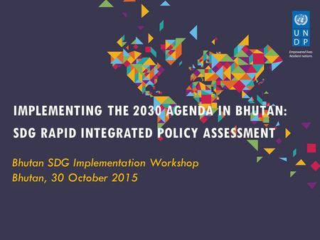 SdG Rapid Integrated Policy Assessment