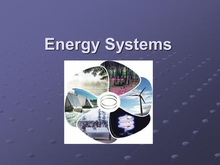 Energy Systems. Energy Energy is the ability to do work Two main forms of energy Kinetic – The energy of motion Kinetic – The energy of motion Potential.