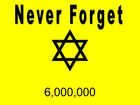 Never Forget  6,000,000.