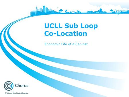 UCLL Sub Loop Co-Location Economic Life of a Cabinet.