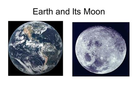 Earth and Its Moon. Movement of the Earth in Space A.The Earth's Rotation: the turning of the Earth on it's axis. * axis – the imaginary line from the.