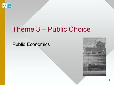 1 Theme 3 – Public Choice Public Economics. 2 Political Economy Defined Political Economy is the application of economic principles to the analysis of.