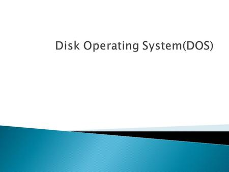 MS-DOS is an acronym for MicroSoft Disk Operating System It is a CUI based operating system. It provides user with a command prompt (generally called.