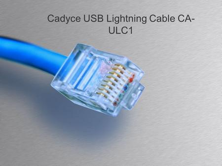 Cadyce USB Lightning Cable CA- ULC1. Agenda Description Image Specification Reviews and Ratings 2Addocart - Cadyce USB Lightning Cable.
