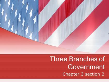 Three Branches of Government Chapter 3 section 2.