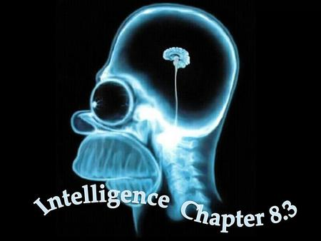 Intelligence the ability to learn from experience, solve problems, and use our knowledge to adapt to new situations In research studies It's whatever.