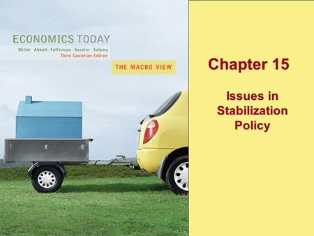 Copyright © 2005 Pearson Education Canada Inc.15-1 Chapter 15 Issues in Stabilization Policy.