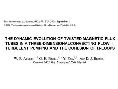 THE DYNAMIC EVOLUTION OF TWISTED MAGNETIC FLUX TUBES IN A THREE-DIMENSIONALCONVECTING FLOW. II. TURBULENT PUMPING AND THE COHESION OF Ω-LOOPS.