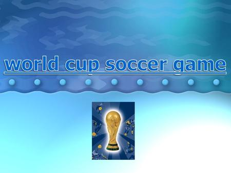 The world cup soccer game or the FIFA World Cup is an international competition of football, which is ordinarily taken place every four years. This competition,