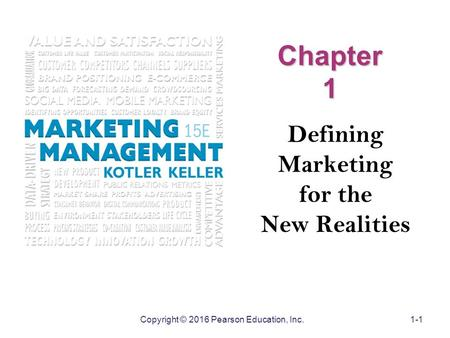 Defining Marketing for the New Realities