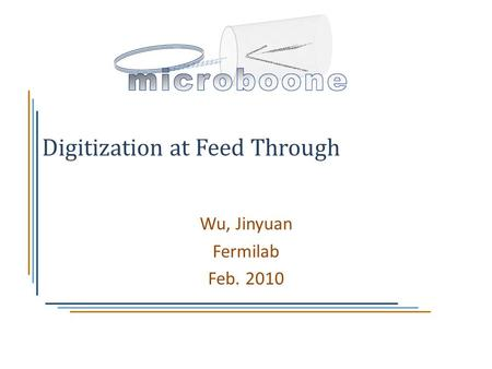 Digitization at Feed Through Wu, Jinyuan Fermilab Feb. 2010.