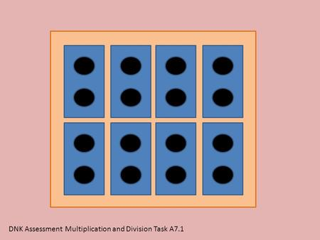 DNK Assessment Multiplication and Division Task A7.1.