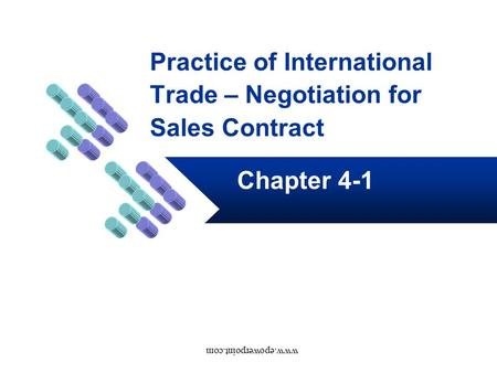 Practice of International Trade – Negotiation for Sales Contract Chapter 4-1 www.epowerpoint.com.