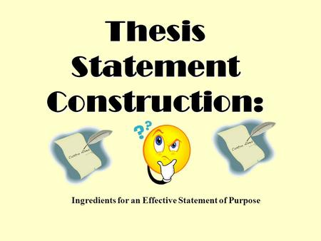 Writing an effective thesis