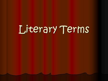 Literary Terms. Round character a major character in a work of fiction who encounters conflict & is changed by it. Round characters tend to be more fully.