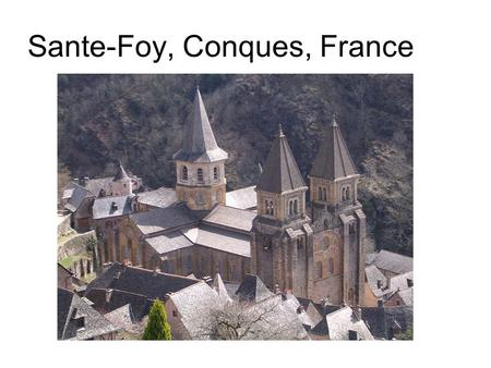 Sante-Foy, Conques, France. Reliquary Statue of Sante Foy.