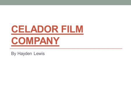 CELADOR FILM COMPANY By Hayden Lewis. Ownership Celador started up in 1983, originally as an independent production company, Celador were then taken over.