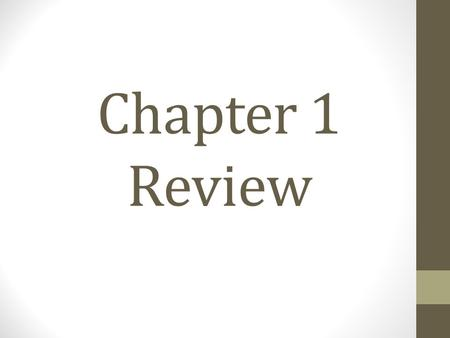 Chapter 1 Review. Examples: Write the numeric expression 1.) Eight more than a number n 2.) The difference of six and a number 3.) The product of three.