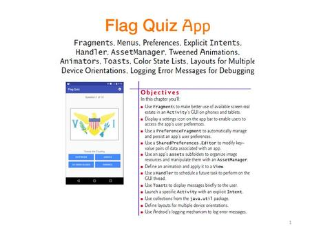 1. 2 3 The Flag Quiz app tests your ability to correctly identify 10 flags from various countries and territories.
