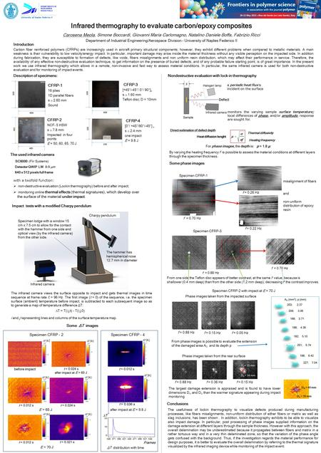 University of Naples Federico II Infrared thermography to evaluate carbon/epoxy composites Carosena Meola, Simone Boccardi, Giovanni Maria Carlomagno,