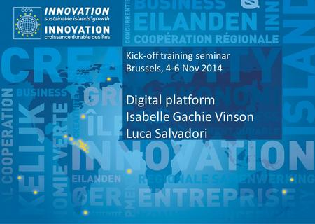 TSI Project Funded by Implemented by Kick-off training seminar Brussels, 4-6 Nov 2014 Digital platform Isabelle Gachie Vinson Luca Salvadori.