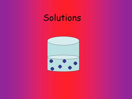 Solutions. SoluteSolven t Solubility ConcentratedDilute : the ability to be dissolved temperature dependent a lot of solute little solute gets dissolved.
