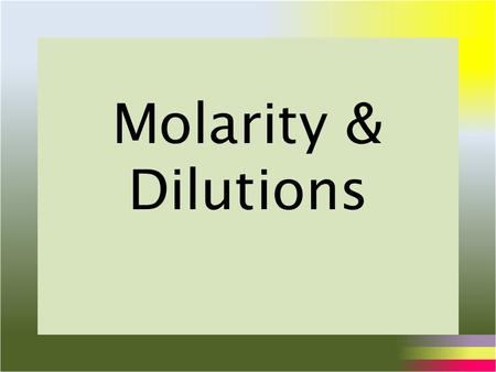 molarity vs molality measures concerning concentration The molality of a solution is a measure of the number of moles of solute per kilogram of solvent whereas the molarity  solutions that have the same concentration .